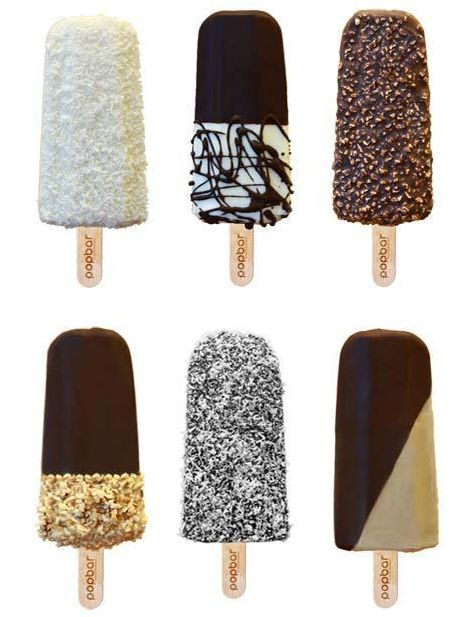 Afternoon craving: Pop-bar chocolate, sprinkle popsicles.