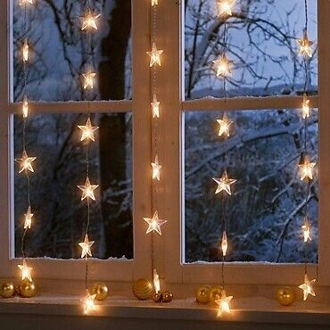 Christmas star window.