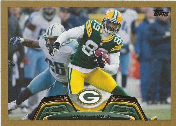 2013 Topps Football James Jones  #228 Gold Border 1609/2013 Green Bay  Packers #GreenBayPackers