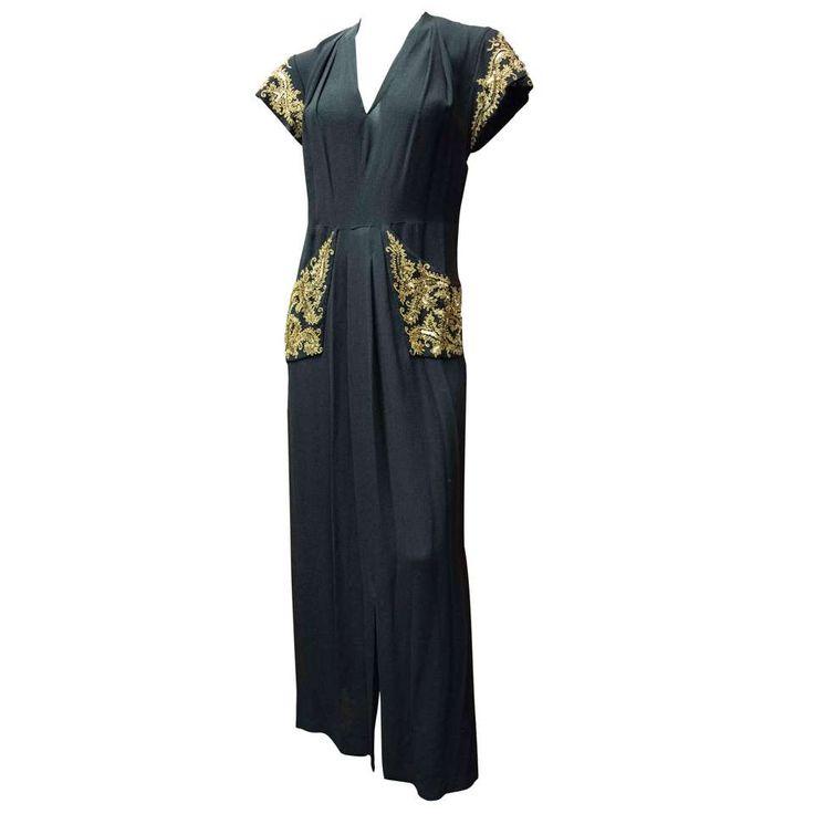1940s Bergdorf Goodman Evening Dress 1