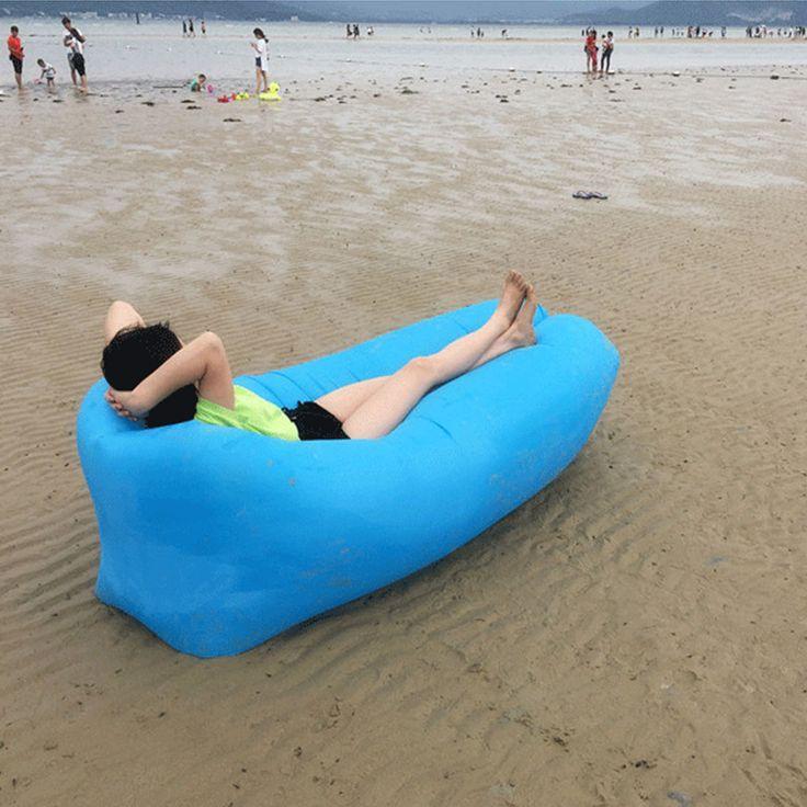 IPRee™ Al Aire Libre Sofá Perezoso Rápido Aire Inflable Cama de Dormir Lounger Camping Playa Lay Bolsa