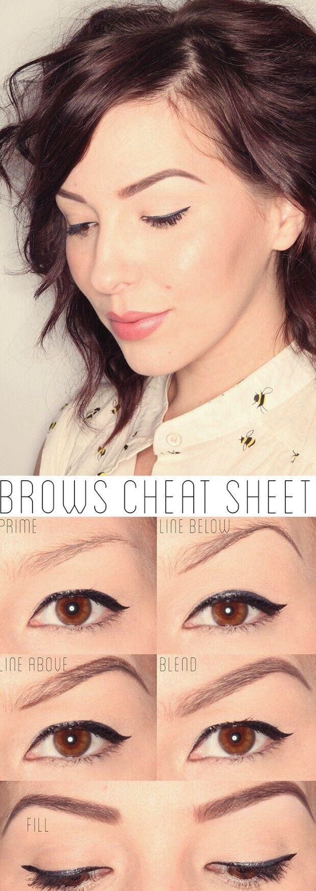 Brow cheat tip... for those of us who are makeup challenged lol.