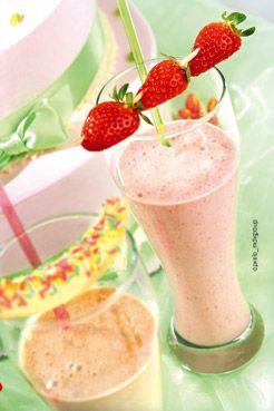 Μιλκ σέικ φράουλα ή μπανάνα