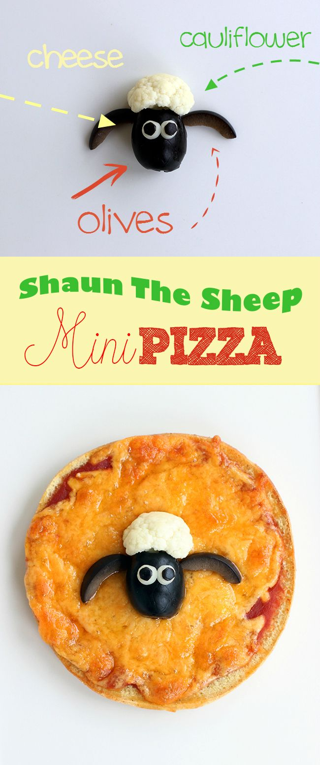 Get ready for the upcoming Shaun the Sheep movie release with this adorable sheep make out of veggies to top mini pizzas with! @shaunthesheepus #ShaunTheSheep #spon