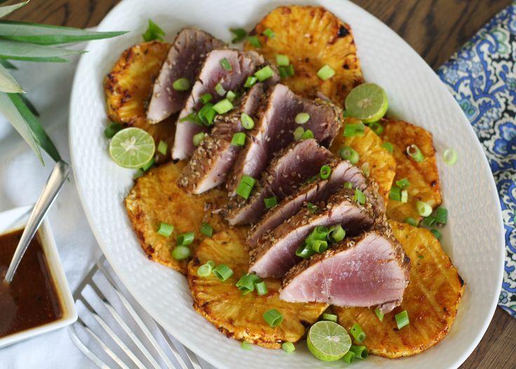 Sesame Grilled Blackfin Tuna & Pineapple   Suwannee Rose
