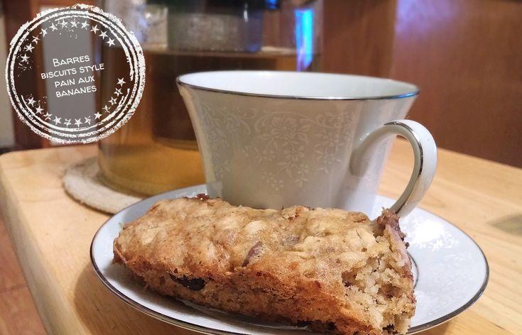 Barres biscuits style pain aux bananes – Au bout de la langue