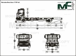 Mercedes-Benz Atron 1719P 4x2 - drawing