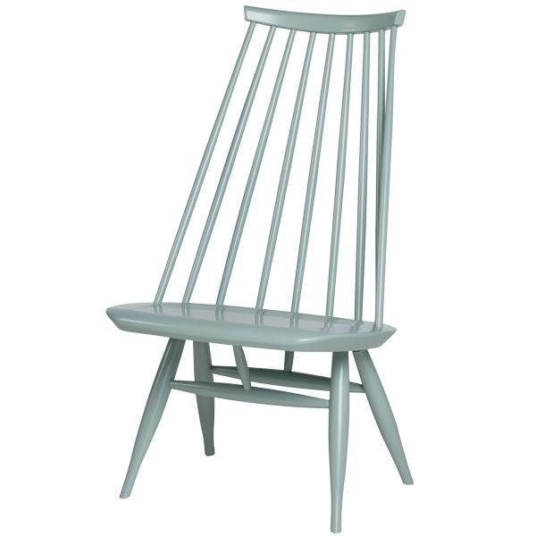Mademoiselle chair, sage green, by Artek. Design by Ilmari Tapiovaara.