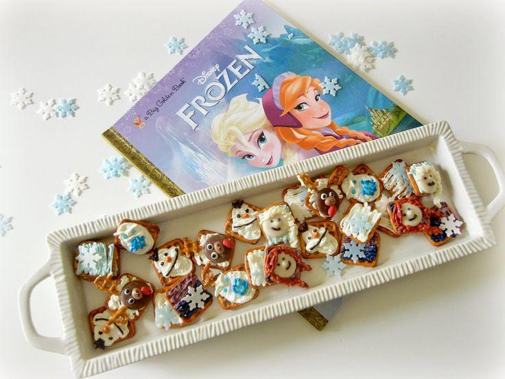 Sugar Swings! Serve Some: Disney's Frozen Character Pretzel Snacks