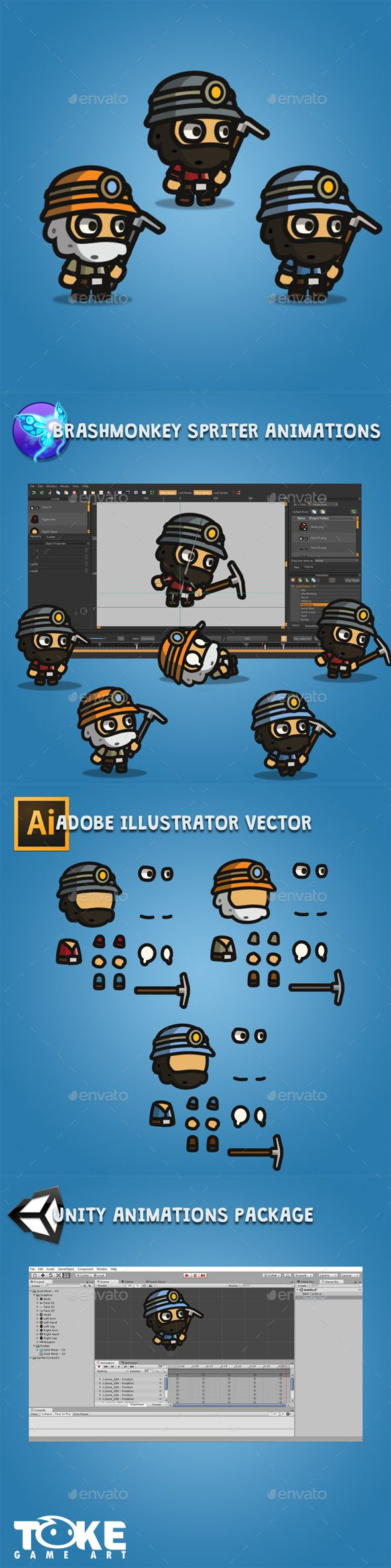 Tiny Style Gold Miner — Vector EPS #kids #gamesalad • Available here → https://graphicriver.net/item/tiny-style-gold-miner/19293940?ref=pxcr