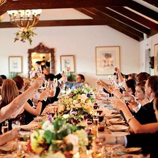 The best man traditionally kicks off the toasting time, followed by the maid of honor.