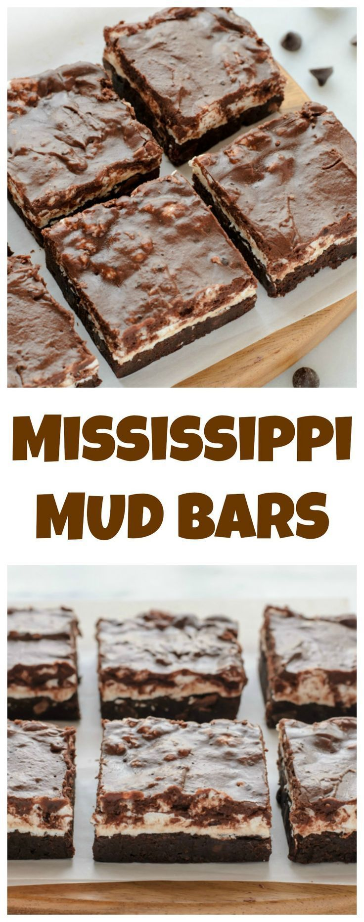 Mississippi Mud Pie Bars. Marshmallow brownies covered in fudge.