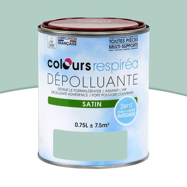 Peinture dépolluante topaze satin 0,75L - CASTORAMA