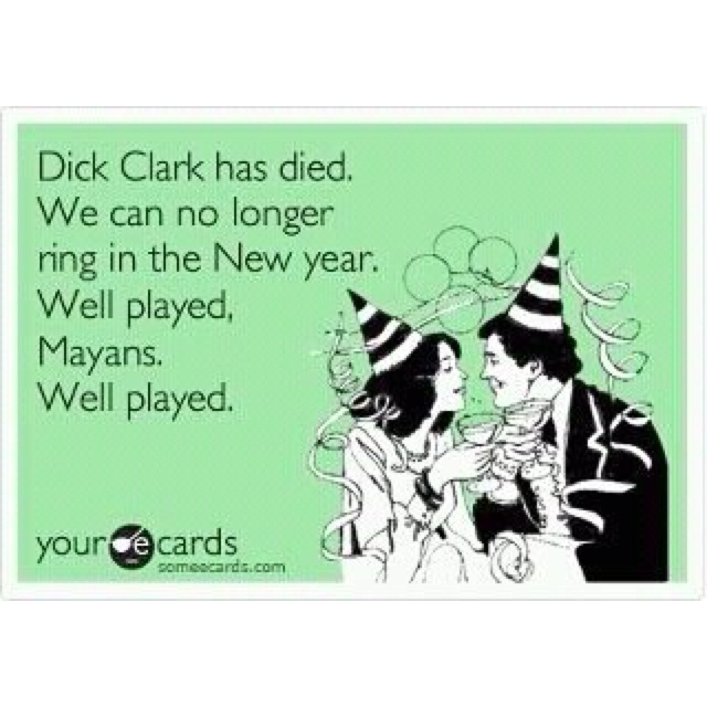Both sad & funny, RIP Dick Clark.Laugh, Food For Thoughts, Dick Clark, Well Plays, Funny Stuff, Daughters, True Stories, New Years, Calendar