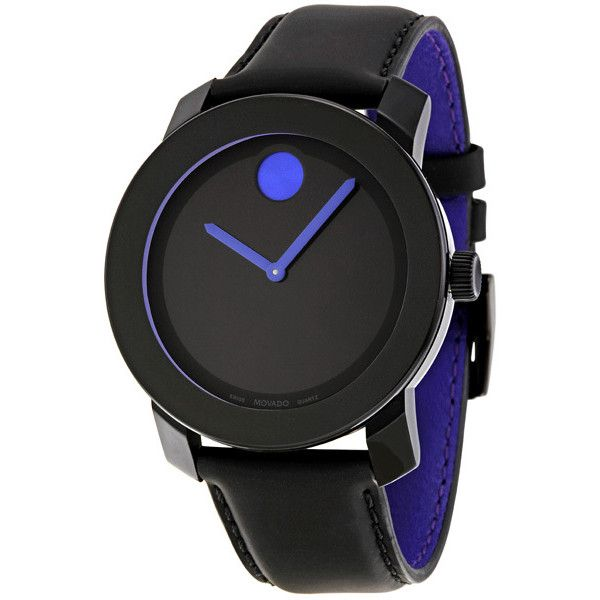 Movado Bold 42 mm Black Dial Unisex Watch ($249) ❤ liked on Polyvore featuring jewelry, watches, accessories, men, black dial watches, unisex jewelry, chrono watches, movado wrist watch and polka dot watches