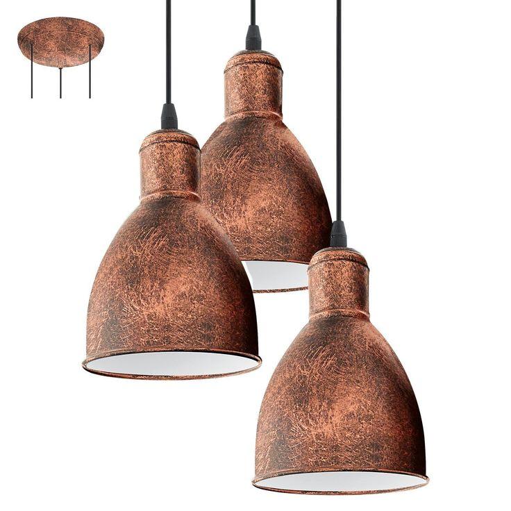 Lampe suspension e27 'pRIDDY 1'cuivre antique: Amazon.fr: Luminaires et Eclairage