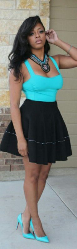 Skirt  - Pop of Junk, Top - Gap, Heels  - Christian Louboutin
