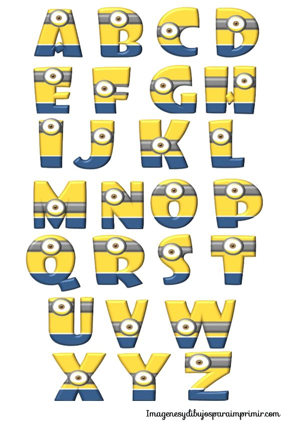 Minion ABC's!  Join us for our Back to School Bash with the Minions Thursday, August 13th from 1:00-4:00pm.  Check out www.pinngym.com for more information!