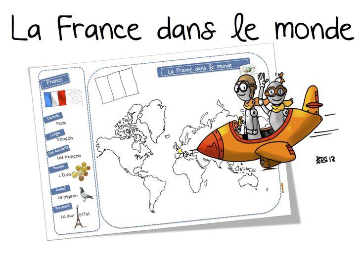 La France dans le monde: carte et récapitulatif CP-CE1   Bout de Gomme