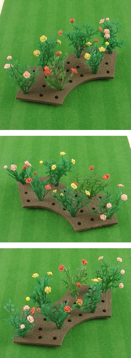 Vintage Britains Floral Garden. rose bushes. Miniature. 1960-1970. Oh. My. Goodness. I remember this!