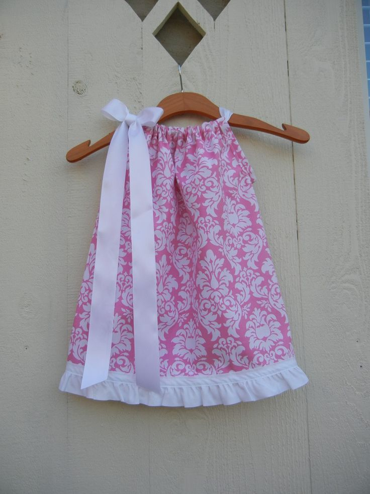 Pink Dandy Damask Pillowcase Dress - sizes 3m to 5T.....PERFECT for Easter, Spring and Summer. $25.00, via Etsy.