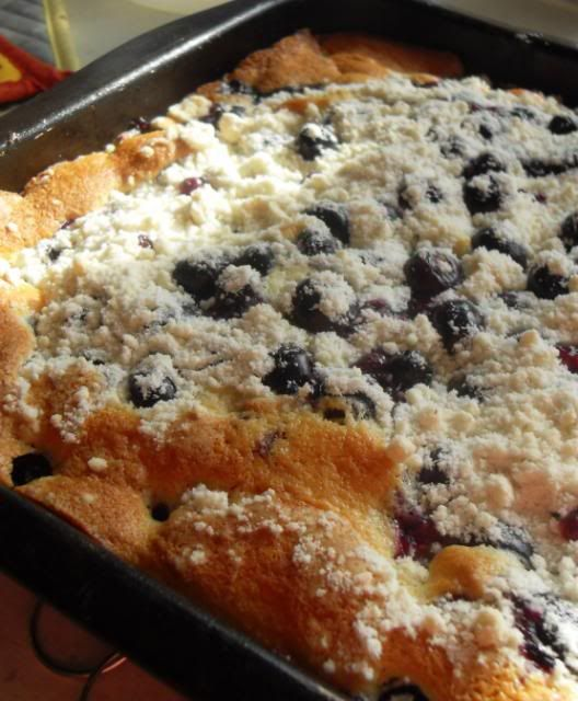 Blueberry Crunch Cake    by The English Kitchen #Cake #Blueberry