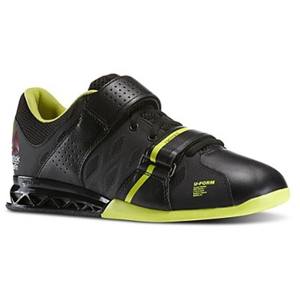 Reebok Women's CrossFit Lifter Plus 2.0 Style #: M40706 Black - High Vis Green Olympic Weightlifting Shoe available at www.TheShoeMart.com #TheShoeMart