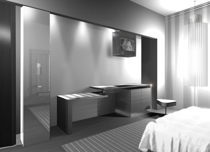 A Render from a part of a room in ''Monginevro Hotel'' for the Competition in Florence which ''Starhotels'' got the first prize #1st #Prize #Table #Miror #Stool #Bed #Hotel #Room #interior #Design #Wood #Carpet #Parquet #Curtain #SpotLights #Lamp #Interior #Design #Architecture #ClaudioNardi #ClaudioNardiArchitects