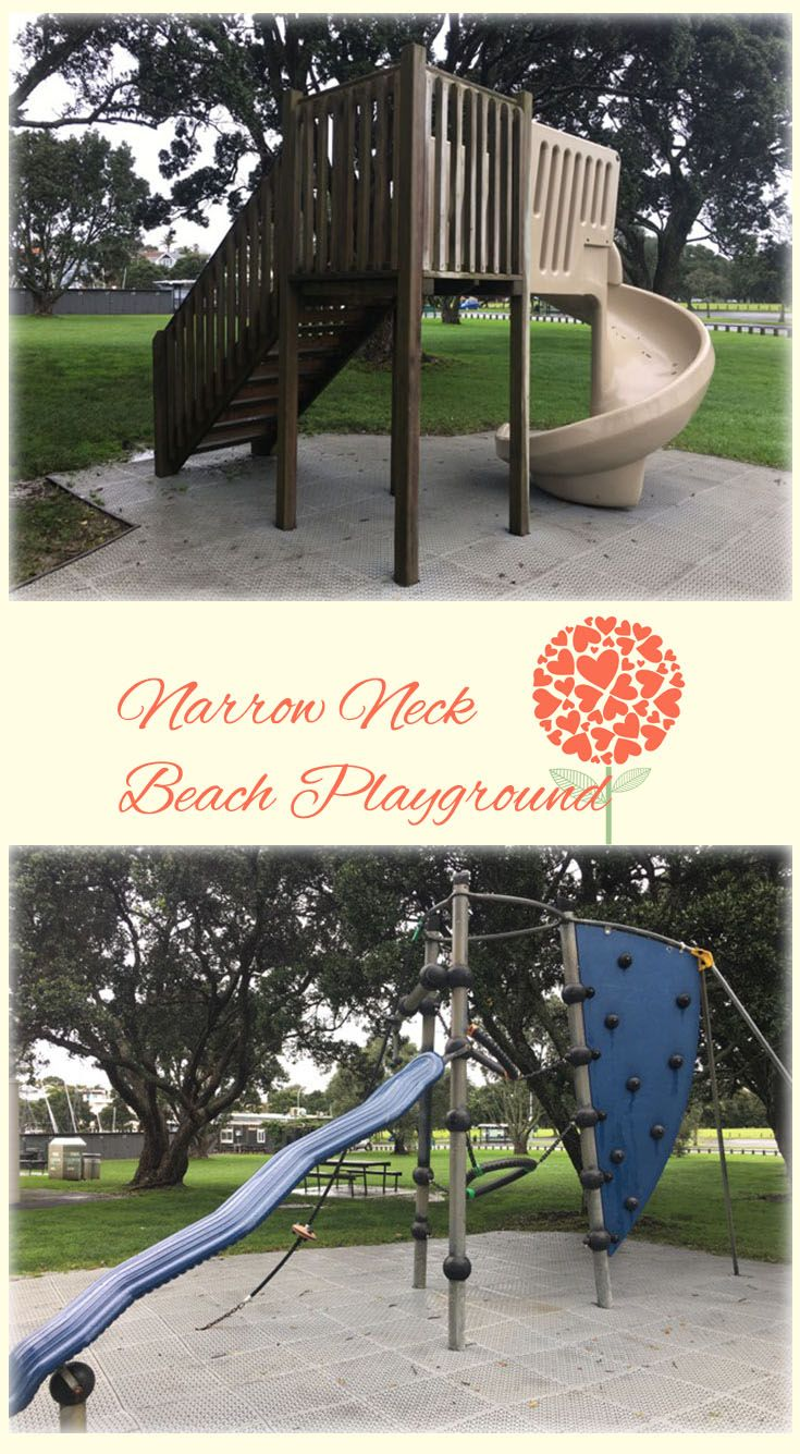 Narrow Neck Beach Playground Auckland: Sweet Little Playground Right Next to Beautiful Swimming Beach. Fun and Relaxing!