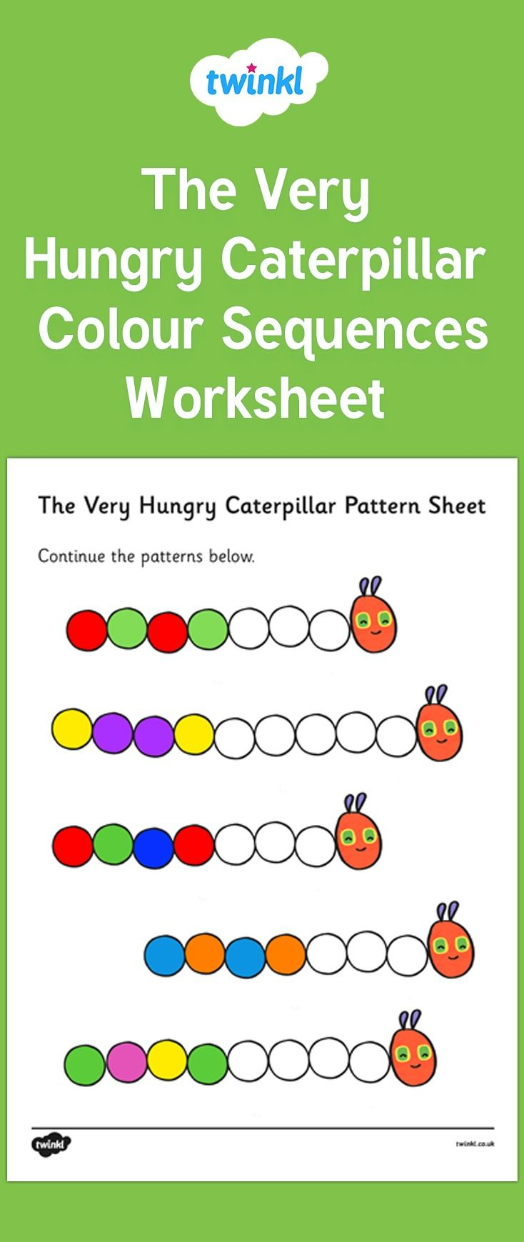 Colour Sequences Worksheet To Support Teaching On The Very Hungry Caterpillar The Very Hungry Caterpillar Activities Very Hungry Caterpillar Hungry Caterpillar Activities [ 1739 x 734 Pixel ]