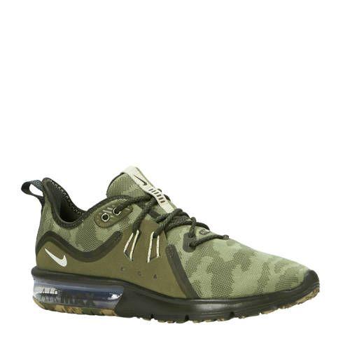 Nike Air Max Sequent 3 Premium hardloopschoenen olijfgroen