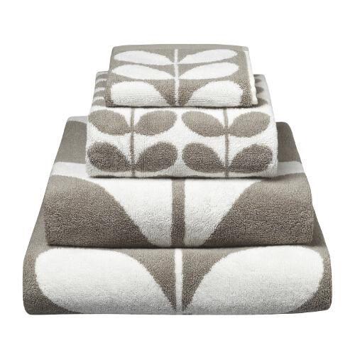bathroom+towels | Stem Grey Towels - Unique and Unity