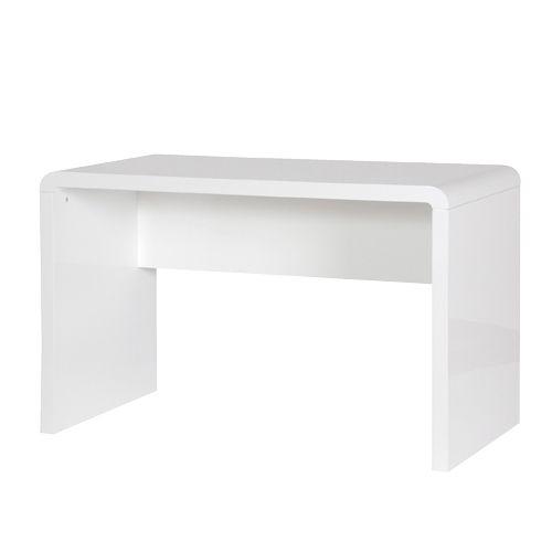 White H/Gloss Modern Desk | Desks | Hall's Interiors