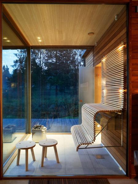 Sauna mit schöner Aussicht