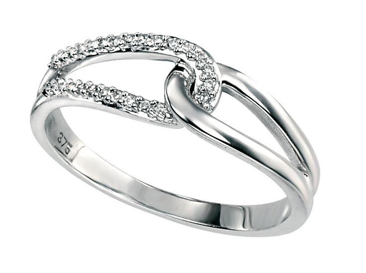 Half Diamond Set Ring 9CT Total Weight of Dimonds 0.07 Carat