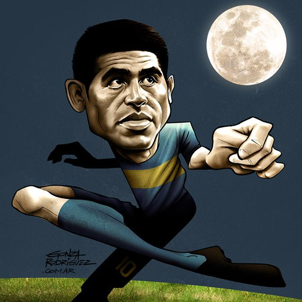 Riquelme/El Grafico Magazine/Argentina - Football Caricatures and Illustrations by Gonza Rodriguez, via Behance