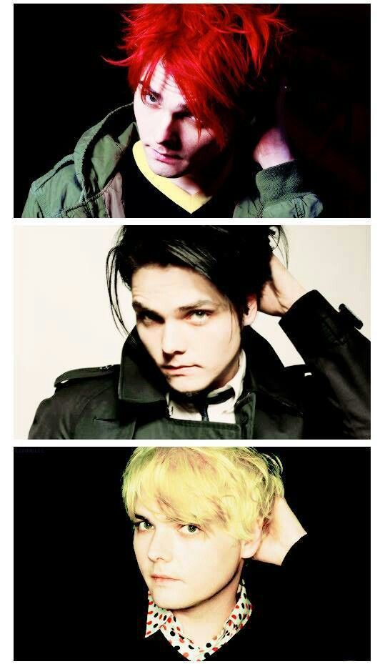 My favourite is still red but he looks adorable in all of them. Gerard way