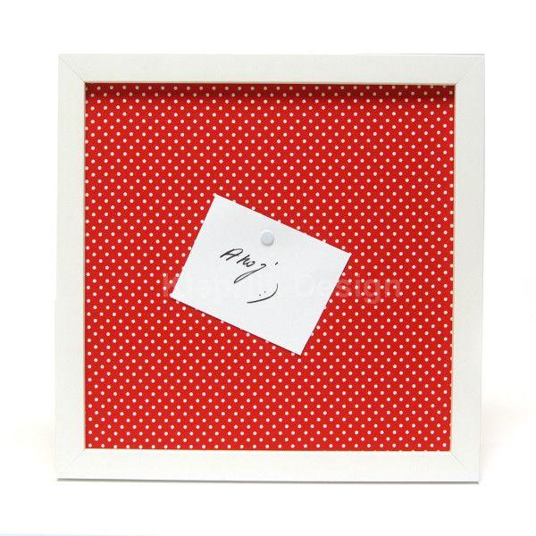 Tabulka s puntíky červená