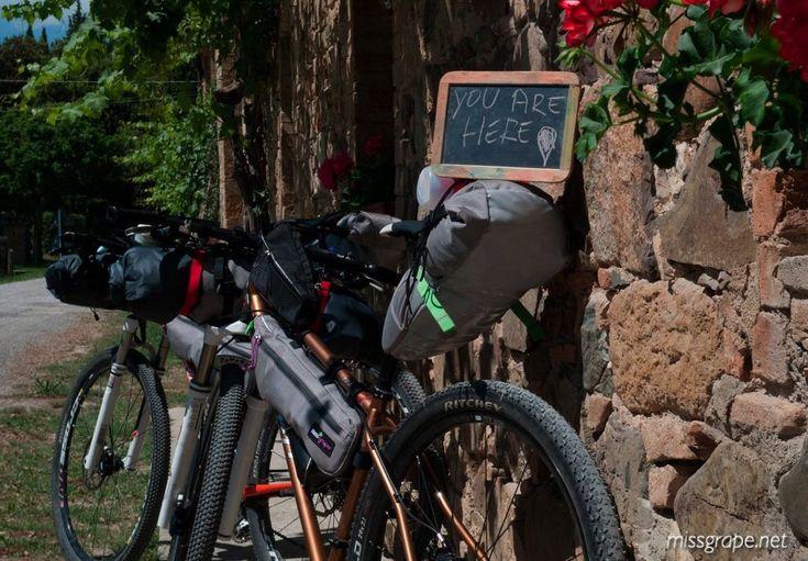 One day in nowhere! Ph. Fabio #missgrape #bikepacking #bags #gravel #tour #tuscany
