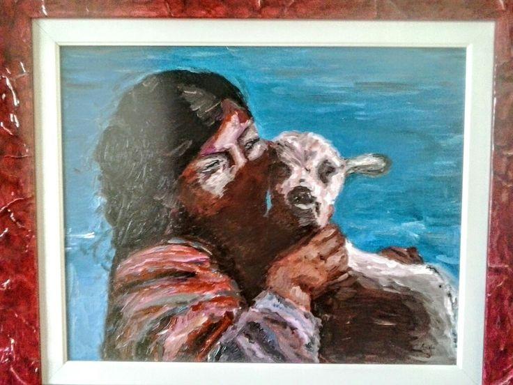 """Pastorella""oil on canvas 40x50cm painted by Ariela Salcini"