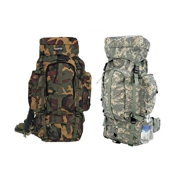 Big Camo Backpack Water Resistant Hiking Camping Camouflage Large Pack ❤ liked on Polyvore featuring camping and pack