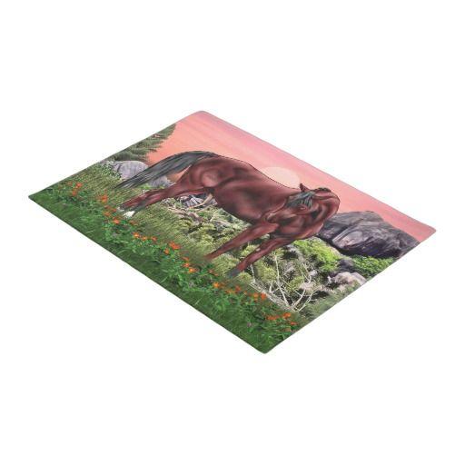Bay Arabian Horse Doormat