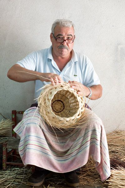 Basket maker from Algarve, Portugal