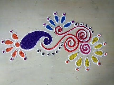 best rangoli designs - YouTube