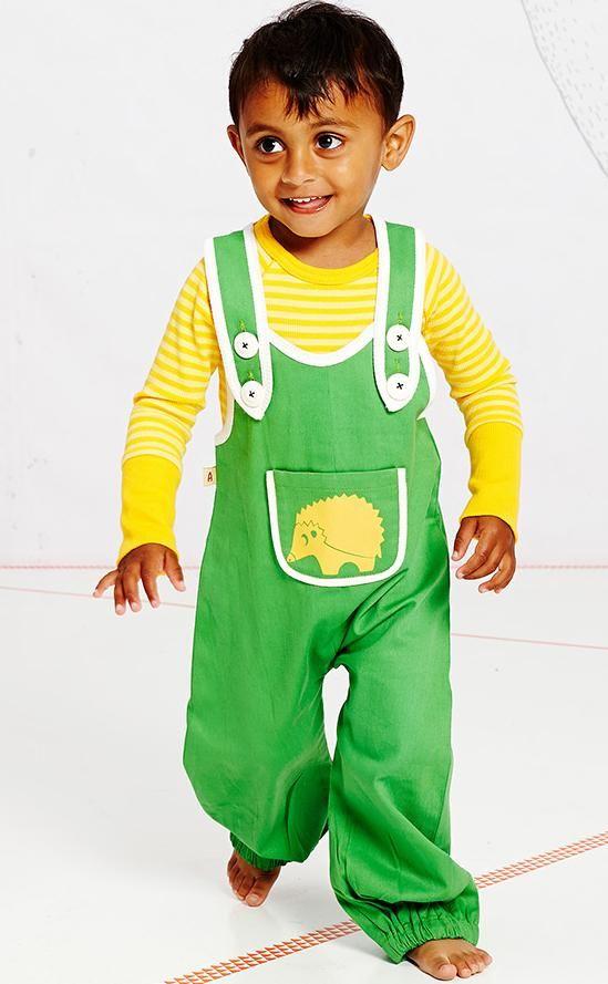 AlbaBaby El Baggy crawlers - Green Retro Baby Clothes - Baby Boy clothes - Danish Baby Clothes - Smafolk - Toddler clothing - Baby Clothing - Baby clothes Online