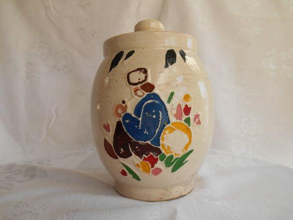 1940's McCoy ceramic jar / McCoy cookie jar by DarburyCottage