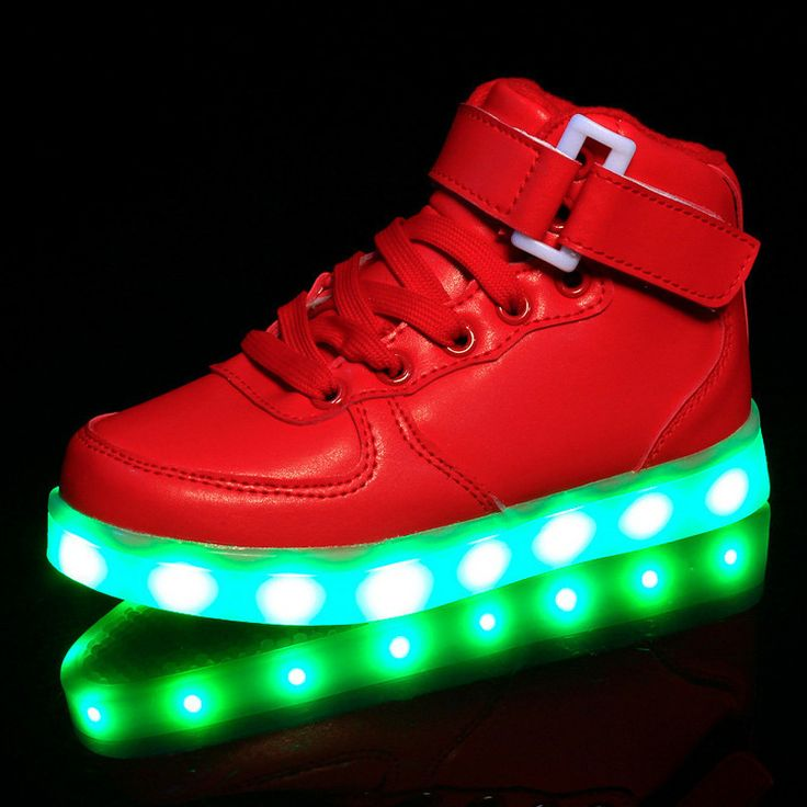 K357 Light Up Shoes Kids With Red