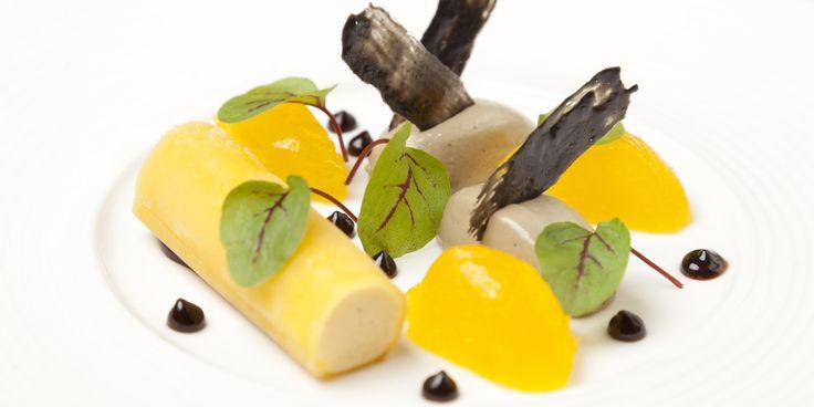 Bergamot parfait, orange jelly, liquorice cream Recipe - Great British Chefs