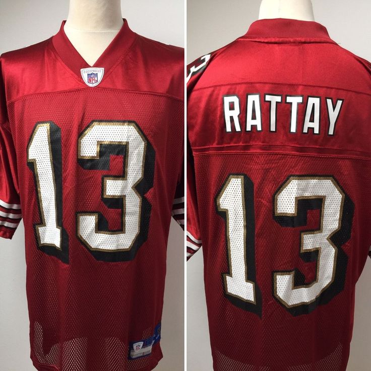 NFL SAN FRANCISCO 49ers American Football Shirt Jersey #13 RATTAY Size LARGE  | eBay
