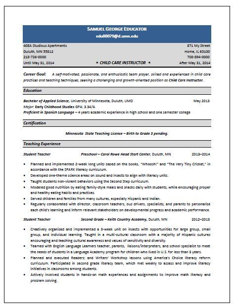11 child care sample resume riez sample resumes - Resume For Child Care